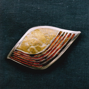 Enamelled silver piece