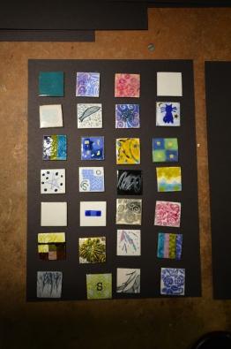 Enamelled squares