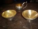 Bowls and jug part gilded