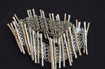 Titanium chain maille bracelet