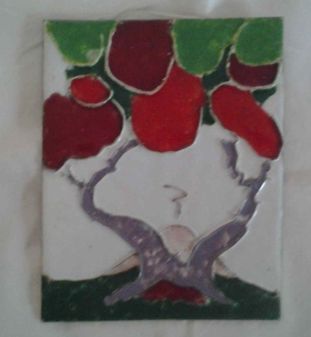 Enamelled plaque